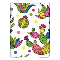 Cactus Seamless Pattern Background Polka Wave Rainbow Ipad Air Hardshell Cases