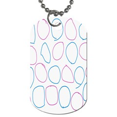 Circles Featured Pink Blue Dog Tag (two Sides)