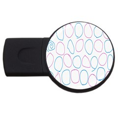 Circles Featured Pink Blue Usb Flash Drive Round (2 Gb)