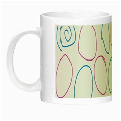 Circles Featured Pink Blue Night Luminous Mugs