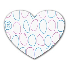 Circles Featured Pink Blue Heart Mousepads