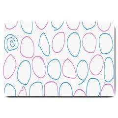 Circles Featured Pink Blue Large Doormat