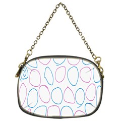 Circles Featured Pink Blue Chain Purses (one Side)