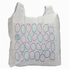 Circles Featured Pink Blue Recycle Bag (two Side)