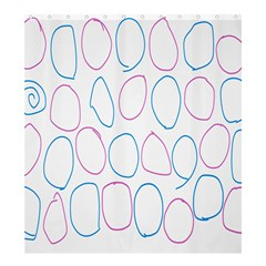 Circles Featured Pink Blue Shower Curtain 66  X 72  (large)