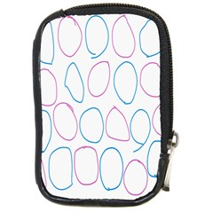 Circles Featured Pink Blue Compact Camera Cases