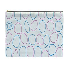 Circles Featured Pink Blue Cosmetic Bag (xl)