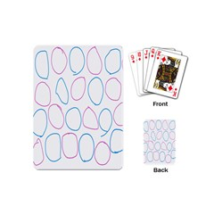 Circles Featured Pink Blue Playing Cards (mini)
