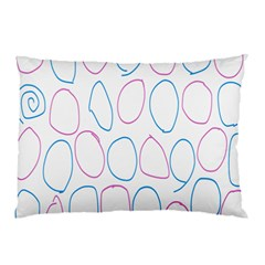 Circles Featured Pink Blue Pillow Case (two Sides)
