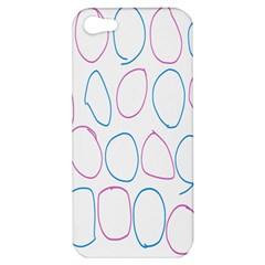 Circles Featured Pink Blue Apple Iphone 5 Hardshell Case