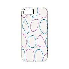Circles Featured Pink Blue Apple Iphone 5 Classic Hardshell Case (pc+silicone)