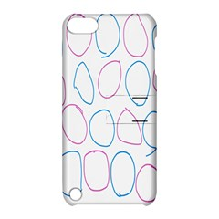 Circles Featured Pink Blue Apple Ipod Touch 5 Hardshell Case With Stand