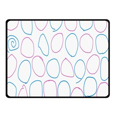 Circles Featured Pink Blue Double Sided Fleece Blanket (small)