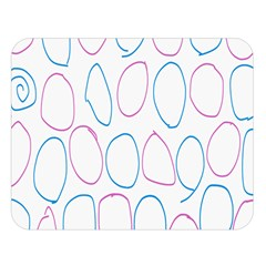 Circles Featured Pink Blue Double Sided Flano Blanket (large)