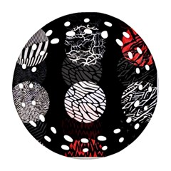 Twenty One Pilots Stressed Out Round Filigree Ornament (two Sides)
