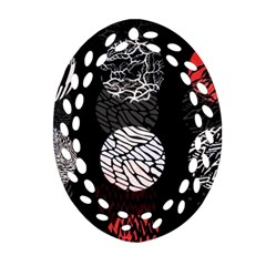 Twenty One Pilots Stressed Out Oval Filigree Ornament (two Sides)