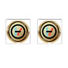 Twenty One Pilots Shield Cufflinks (square)