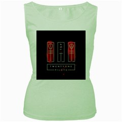 Twenty One Pilots Women s Green Tank Top