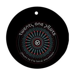 Twenty One Pilots Round Ornament (two Sides)
