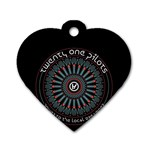 Twenty One Pilots Dog Tag Heart (One Side) Front