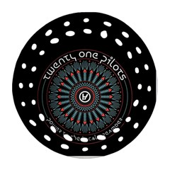 Twenty One Pilots Round Filigree Ornament (two Sides)