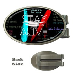 Twenty One Pilots Stay Alive Song Lyrics Quotes Money Clips (oval)