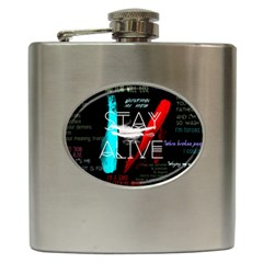 Twenty One Pilots Stay Alive Song Lyrics Quotes Hip Flask (6 Oz)