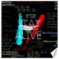 Twenty One Pilots Stay Alive Song Lyrics Quotes Canvas 20  X 20