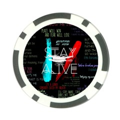 Twenty One Pilots Stay Alive Song Lyrics Quotes Poker Chip Card Guard