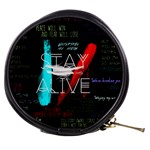 Twenty One Pilots Stay Alive Song Lyrics Quotes Mini Makeup Bags Front
