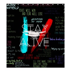 Twenty One Pilots Stay Alive Song Lyrics Quotes Shower Curtain 66  X 72  (large)