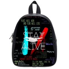 Twenty One Pilots Stay Alive Song Lyrics Quotes School Bag (small)