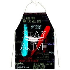 Twenty One Pilots Stay Alive Song Lyrics Quotes Full Print Aprons