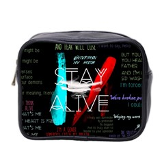 Twenty One Pilots Stay Alive Song Lyrics Quotes Mini Toiletries Bag 2 Side