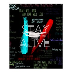 Twenty One Pilots Stay Alive Song Lyrics Quotes Shower Curtain 60  X 72  (medium)