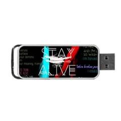 Twenty One Pilots Stay Alive Song Lyrics Quotes Portable Usb Flash (one Side)