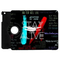 Twenty One Pilots Stay Alive Song Lyrics Quotes Apple Ipad Mini Flip 360 Case