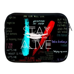 Twenty One Pilots Stay Alive Song Lyrics Quotes Apple Ipad 2/3/4 Zipper Cases