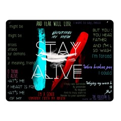 Twenty One Pilots Stay Alive Song Lyrics Quotes Double Sided Fleece Blanket (small)