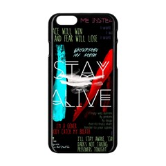 Twenty One Pilots Stay Alive Song Lyrics Quotes Apple Iphone 6/6s Black Enamel Case