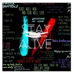 Twenty One Pilots Stay Alive Song Lyrics Quotes Large Satin Scarf (square)