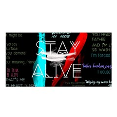 Twenty One Pilots Stay Alive Song Lyrics Quotes Satin Shawl