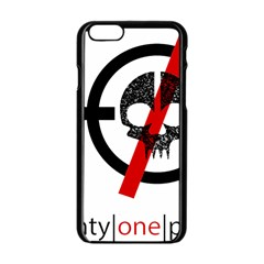 Twenty One Pilots Skull Apple Iphone 6/6s Black Enamel Case