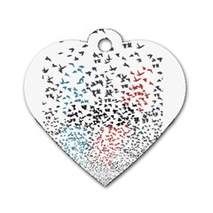 Twenty One Pilots Birds Dog Tag Heart (two Sides)