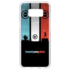 Twenty One 21 Pilots Samsung Galaxy S8 White Seamless Case