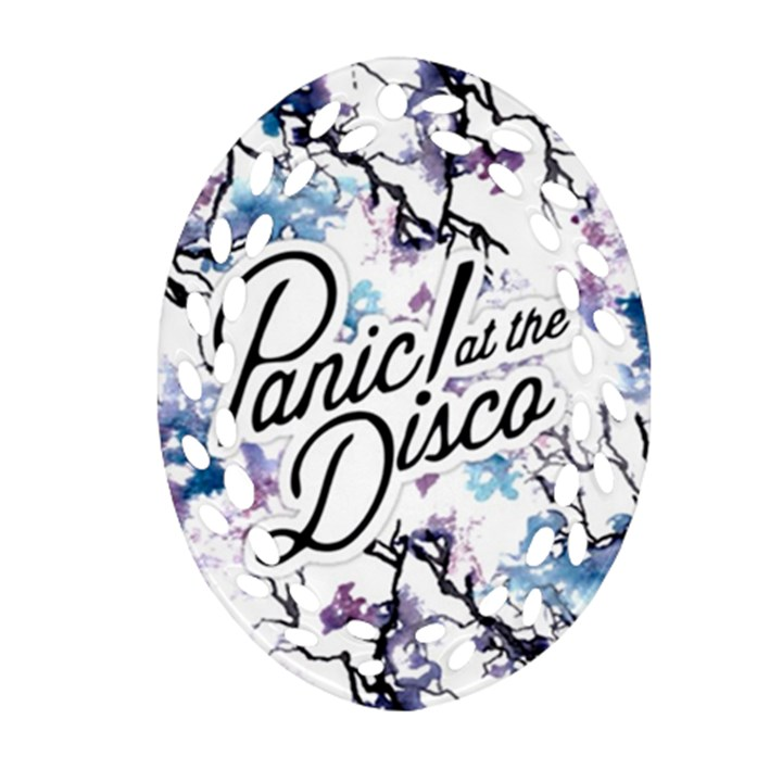 Panic! At The Disco Oval Filigree Ornament (Two Sides)
