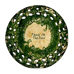 Panic At The Disco Round Filigree Ornament (two Sides)