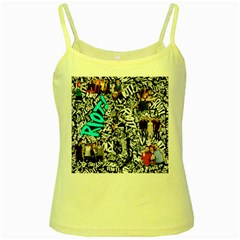 Panic! At The Disco College Yellow Spaghetti Tank