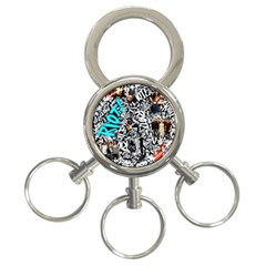 Panic! At The Disco College 3 Ring Key Chains