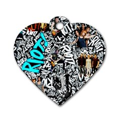 Panic! At The Disco College Dog Tag Heart (two Sides)